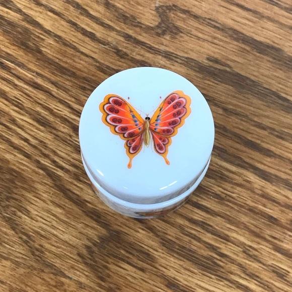 Vintage Other - Porcelain Butterfly Trinket Box